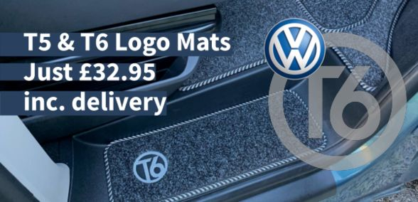 T5 & T6 Logo Mats Just £32.95 inc. delivery
