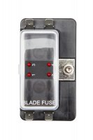 4 Way Fusebox 1 Power In - LED Light Blade Fuse Holder