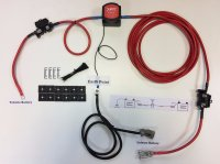 10m Durite Split Charge Relay Kit - Ready Made