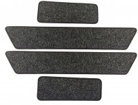 Volkswagen (VW) T5 / T6 Twin Slider Mats + Cab Step Mats - Anthracite Carpet