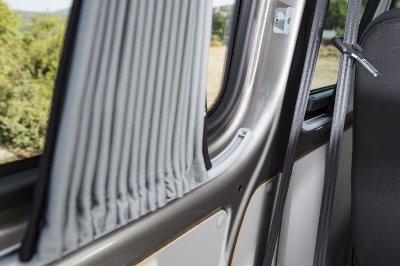 Volkswagen (VW) T5 / T6 Curtains - Grey Rails
